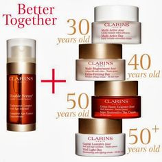 Clarins skincare products work well and have lovely natural fragrances.