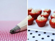 Yum! Strawberries and Cream!