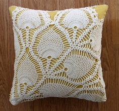 I made this doily pillow for my midwife, Lori, as a way to say THANK YOU for being more fabulous than I imagined throughout my pregnancy and...