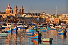 Marsaxlokk, Malta.        Once a vibrant trading port this town is still considered the main supplier of fish to the island nation. It is well known for its enormous markets, stocked with a vast array of magnificent fresh fish.