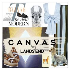 """""""Paint Your Look With Canvas by Lands' End: Contest Entry"""" by yours-styling-best-friend ❤ liked on Polyvore featuring MICHAEL Michael Kors, Yves Saint Laurent, Vanessa Bruno, Salvatore Ferragamo, TLC&you, Canvas by Lands' End, New Look, WithChic, Circus Hotel and Casetify"""