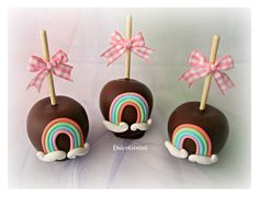 MY LITTLE PONY MANZANAS DECORADAS CHOCOLATE COVERED APPLES