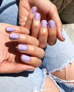 """The perfect Summer Pastels in the NCLA Nail Lacquer Collection! This color is """"clubhouse cocktails"""" Made in LA, Cruelty free and Vegan! Bright Nails, Pastel Nails, Acrylic Nails, Lilac Nails, Cute Nails, Pretty Nails, Cute Short Nails, Hair And Nails, My Nails"""