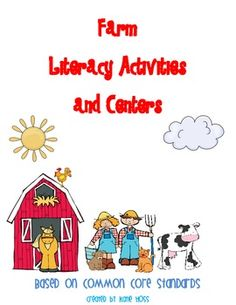This 63 page packet is full of Farm words Literacy activities and centers. Includes activities, centers, a matching game, and much more! Great to t...