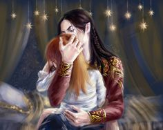 Феанор и маленький Маэдрос by ElfinFen