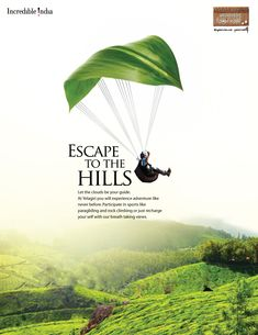 Paragliding in Yelagiris are drawing adventure freaks there. Parasailing is going to be introduced shortly in Mudaliarkuppam. Tattoo Studio, Tourism Poster, Impossible Dream, Parasailing, Leaflets, Skydiving, Rock Climbing, Logo Design, The Incredibles