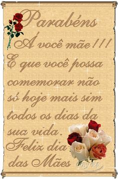 NA SUA SINTONIA - PROFESSORA MARCIA VALERIA : FELIZ DIA DAS MÃES!!!
