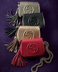 Gucci Soho Leather Chain Crossbody Bags