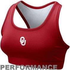 Nike Oklahoma Sooners Ladies Crimson Performance Sports Bra #fanaticssummerwishlist