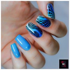 Optical illusion, Blue nails, #StampingMaster, love nails etc