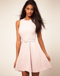 ShopStyle: AsosFit and Flare Dress With Belt