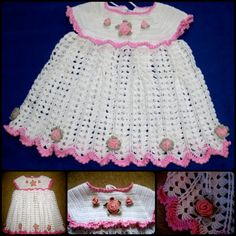 Little princess' summer dress with roses - Free pattern