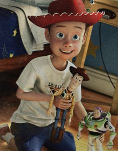 What I love about this is that I have pictures in a box somewhere that are just like this. The pictures themselves are scratched and old I am about the same age as Andy. I love that Andy represents everyone in our generation; I love that we got to grow up with him. #ToyStory