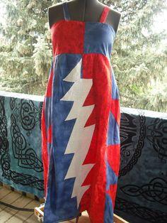 Grateful Dead hippie patchwork lightning by LuvAndLightCreations, $75.00