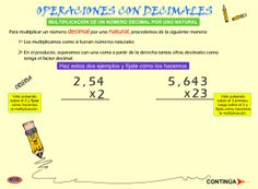 #mateTIC Operaciones con números decimales: multiplicar