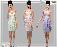 Nora's short dress at Dreaming 4 Sims • Sims 4 Updates