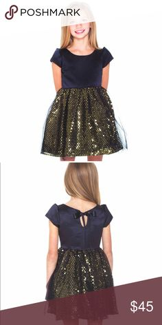 Stunning black and gold girl's formal dress Stunning black and gold sequin dress. Brand new with tag. Perfect dress for any occasion. Evalina Dresses Formal