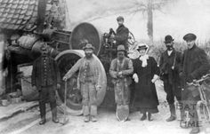 A Steam roller after it has crashed into Conway's Cottage, Padleigh Bottom in Englishcombe March 18th 1909