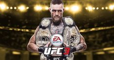 The Irish UFC star is pictured with his belts for the cover of EA Sports' latest game, which is due next year. It's the second time he's been on the cover, sharing it with Ronda Rousey for UFC Connor Mcgregor, Ufc Night, Ufc Fight Night, Playstation, Xbox Xbox, Martial, Mma, Ufc Sport, Trailer Oficial