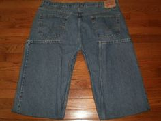 BIG and TALL MENS 44 x 36 LEVIS 550 blue DENIM JEANS pants RELAXED FIT EUC!
