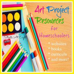 Art Project Resources for Homeschoolers