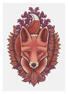 Autumn Fox by Tom Hamel, via Behance