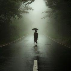 Il silenzio della pioggio, immagine in bianco e nero