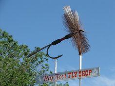 Fishing Fly Shop Sign-Vernal Utah