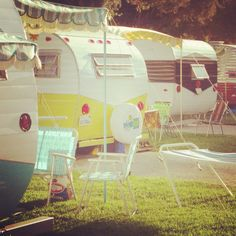 Vintage camper trailers Buelton rally