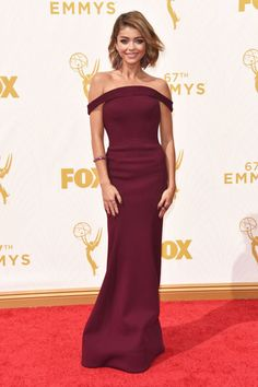 The top 10 best dressed at the Emmys last night: Sarah Hyland in Zac Posen.