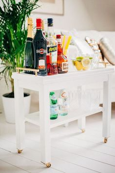 Diy Crafts Ideas : Holiday Party Must Have: IKEA Bar Cart Hacks
