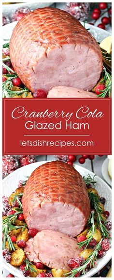 1 reviews · 3 hours · Serves 10 · Make this delicious holiday ham in your slow cooker, glazed with a sweet and savory cranberry and cola sauce.