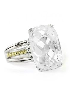 New!! LAGOS Jewelry | Prism White Topaz Statement Ring. Available at Hingham Jewelers!