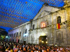 Santo Niño Cathedral, Cebu, Philippines. Almost time for the Sinulog Festival to celebrate the child Jesus.