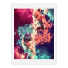 Caleb Troy Yin Yang Painted Clouds Shower Curtain | DENY Designs Home Accessories