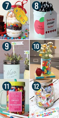 Teacher Appreciation Gifts in a Jar