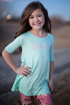 Lovely Mint Top, Top, Long Sleeve Top, twist top, Ryleigh Rue Clothing, Kids Clothing, Fashion, Online Shopping, Online Boutique, Style, Fashion Blogger, Striped top