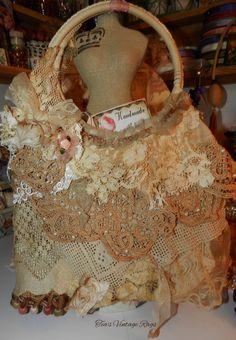 Tattered Tote...https://www.etsy.com/listing/154509895/vintagetattered-lace-crochet-tote?ref=v1_other_1