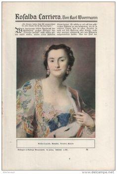 Rosalba Carriera (von Karl Woermann) /  Artikel aus Zeitschrift, 1926/ 27