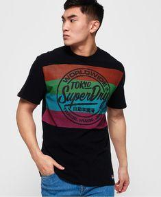 Mens - Retro Surf T-shirt in Washed Carban Grey. Superdry ... 671bf3ecb5b