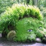 Giant's Head, mud sculpture, The Lost Gardens of Heligan, 2007