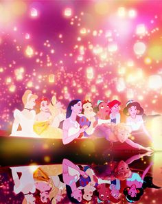 Rapunzel from Tangled meets all other Disney princess!