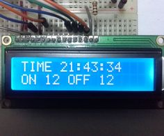 """Hi, with this project you will be able to control the on and off of your devices between the time you want. They may be the lights at the night, water the garden, turn on a machine, etc. We will use the arduino, the LCD and the RTC 1307 to show and control the time. You can set the """"ON"""" hour and the """"OFF"""" hour, by 4 push buttons that let you increase or decrease the """"SET POINT"""". Also, you will learn to make a clock with the arduino. I incl..."""
