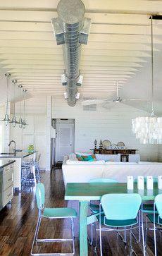 Anna Maria Beach House - beach style - dining room - tampa - The Blue Moon Trading Company