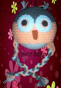 Child+Pink+Owl+Hat