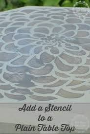 Image result for stencilled dining table