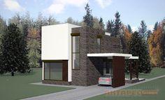 Проект дома Хай тек 112 :: Фасад
