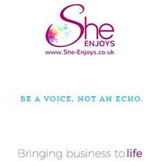 Be a voice, not an echo...