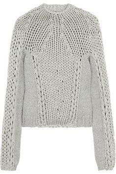 e4cbfec3355911 Alexander Wang - Chunky-knit cotton-blend sweater