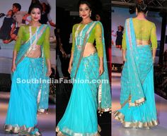 Madhurima in Blue Net Saree ~ Celebrity Sarees, Designer Sarees, Bridal Sarees, Latest Blouse Designs 2014